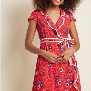 ModCloth Daytime Dapper Wrap Dress